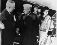 Nehru et Indira Gandhi en visite aux U.S.A - U.S Embassy New Delhi/Flickr (c.c)