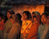 Femmes à Deoghar, Orissa, Inde. Photographie Simon Williams / Ekta Parishad / Wikimedia commons (c.c)