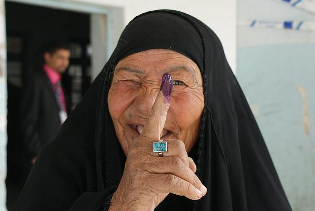 Election parlementaire, janvier 2005, Nasiriyah, Irak / Photographie James Gordon, Flickr (c.c)