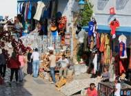 Tunisie. Sidi Bou Said. Le tourisme, un secteur qui boudent les femmes (2010)/ Photographie  Eric HENRY (flickr c.c)